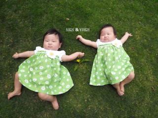 お空の下で双子の大の字