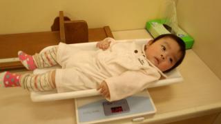 5ヶ月の体重測定☆