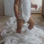 トイレットペーパー、やったよ♪