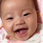 眉毛も成長中そろそろ生誕5ヶ月