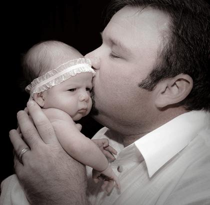 パパと赤ちゃんの写真