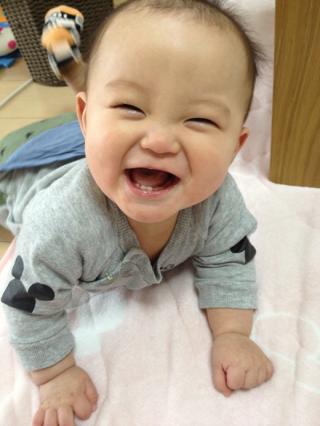 元気いっぱいの笑顔