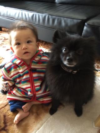 愛犬とツーショット(^^)