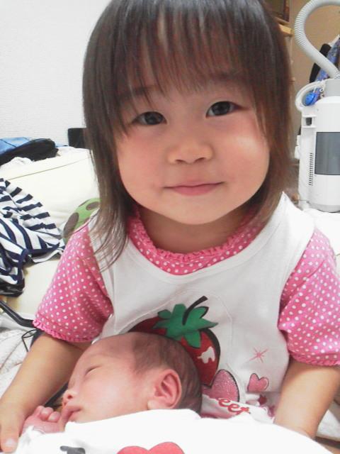 お姉ちゃんになりました~の赤ちゃん写真