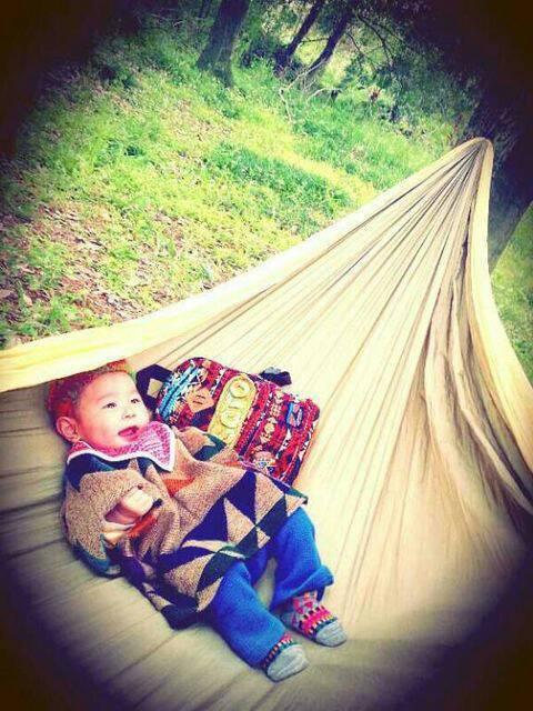 大好きなハンモックでの赤ちゃん写真