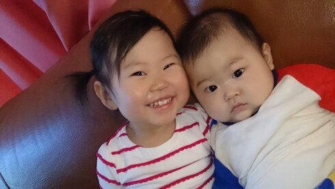 大好き兄弟の赤ちゃん写真