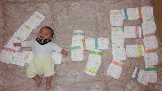 4ヶ月突入!の赤ちゃん写真