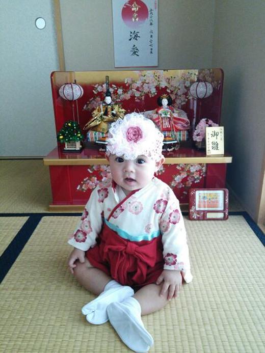 初節句の赤ちゃん写真