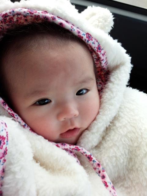 まぶしいの赤ちゃん写真