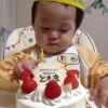 初めてのケーキ。