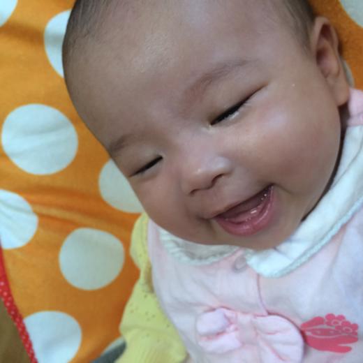 満面の赤ちゃん写真