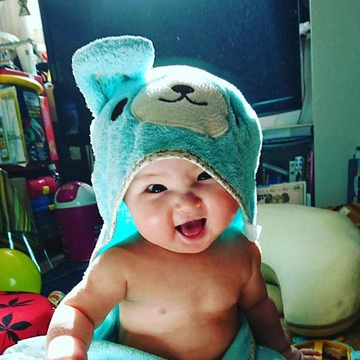 赤ちゃん写真スマイル:コアくん