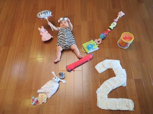 赤ちゃん写真スマイル:るかちん